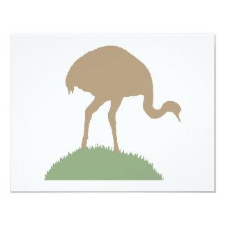 Pássaro de Rhea Convite 10.79 X 13.97cm