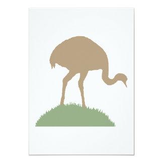 Pássaro de Rhea Convite 12.7 X 17.78cm