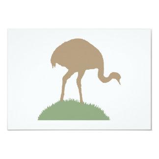 Pássaro de Rhea Convite 8.89 X 12.7cm
