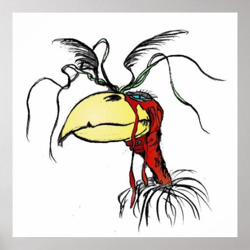 Pássaro de vista louco do abutre de Harpie com Ver Pôsteres