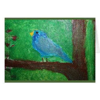 Pássaro do brilho cartão comemorativo