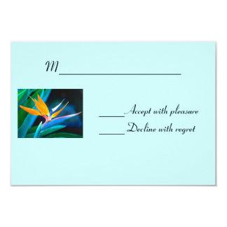 Pássaro do cartão do paraíso RSVP Convite 8.89 X 12.7cm