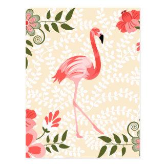 Pássaro do flamingo cartão postal