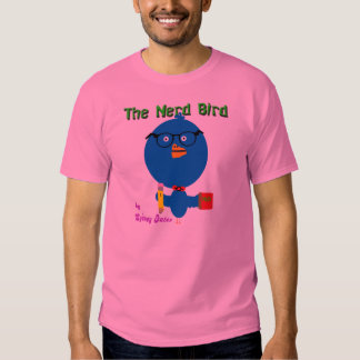 Pássaro do nerd camiseta