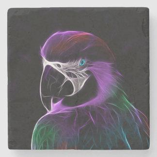 Pássaro do papagaio porta-copos de pedra