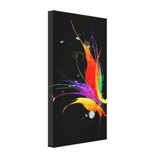 Pássaro do Splatter da pintura de paraíso abstrato Impressão Em Tela Canvas