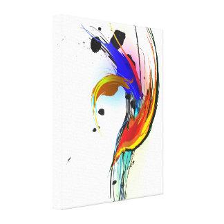 Pássaro do Splatter da pintura de paraíso abstrato Impressão Em Tela