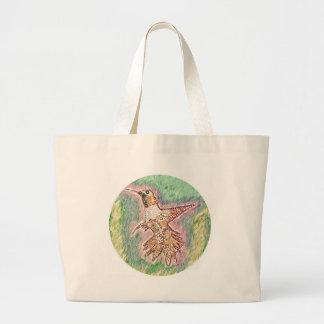 Pássaro do zumbido bolsa para compras