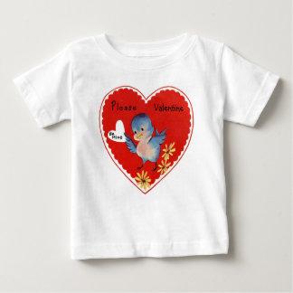 Pássaro dos namorados do vintage tshirt