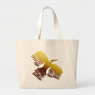 Pássaro dourado estilizado bonito de Phoenix Bolsas De Lona