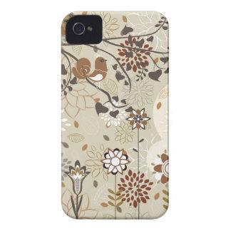 Pássaro e capa de iphone 4 lunáticos das flores capinhas iPhone 4