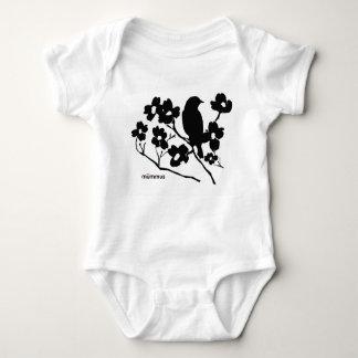Pássaro e Dogwood Body Para Bebê