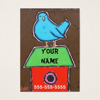 PÁSSARO em cartões de visitas do TELHADO