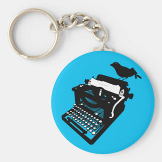 Pássaro em um chaveiro da máquina de escrever (fun