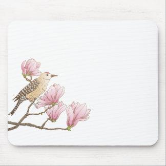 Pássaro em um esboço cor-de-rosa | Mousepad do