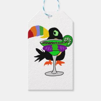 Pássaro engraçado artística de Toucan que bebe Etiqueta Para Presente