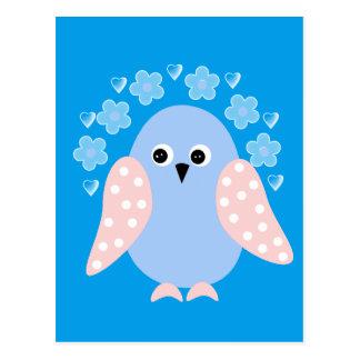 pássaro engraçado cartão postal