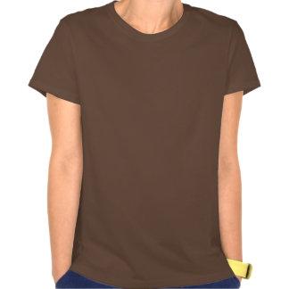 Pássaro japonês em um ramo - Brown e bege Tshirts