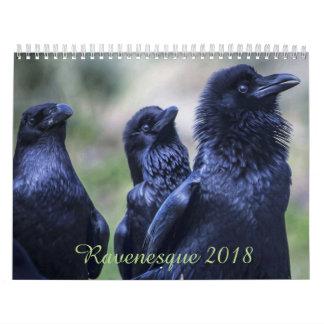 Pássaro mágico 2018 de Ravenesque calendário de 18