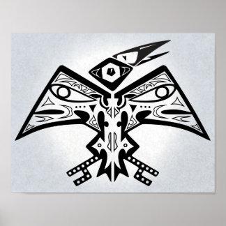 Pássaro-Man - poster 11x14 da arte do nativo ameri