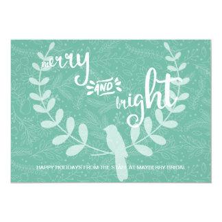 Pássaro na feliz do louro e no cartão incorporado convite 12.7 x 17.78cm