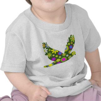 Pássaro retro floral Funky