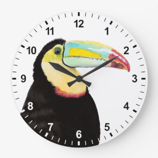 Pássaro tropical de Toucan Relógio Grande