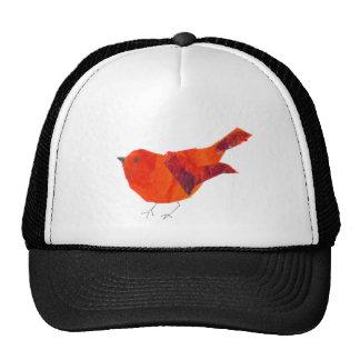 Pássaro vermelho bonito boné