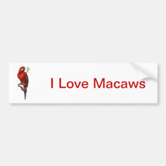 Pássaro vermelho do Macaw Adesivo Para Carro