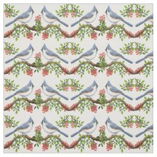 Pássaros adornados do Titmouse com tecido das