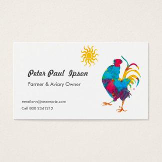 Pássaros coloridos profissionais do galo da cartão de visitas
