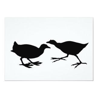 Pássaros Convite 12.7 X 17.78cm