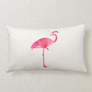 Pássaros cor-de-rosa de Florida da silhueta da Almofada Lombar