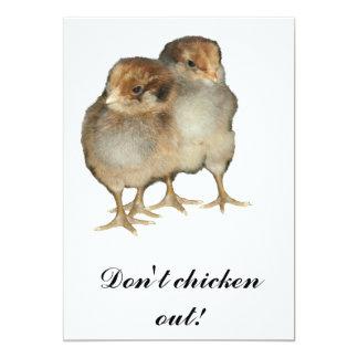 Pássaros da ornitologia das galinhas do araucana convite 12.7 x 17.78cm