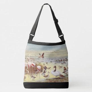 Pássaros da sacola do ombro dos animais selvagens bolsa ajustável