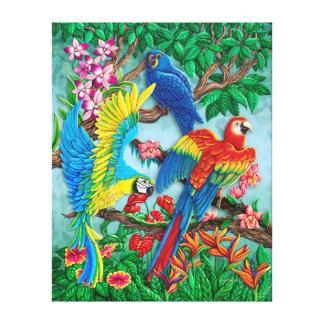Pássaros de canvas do paraíso impressão em tela canvas