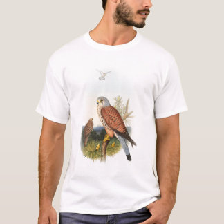 Pássaros de John Gould do falcão do Kestrel de Grâ Camiseta