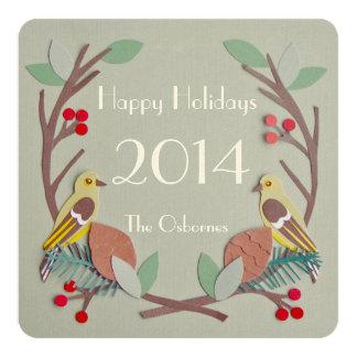Pássaros de Wildberry Convite Quadrado 13.35 X 13.35cm