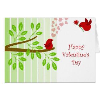 Pássaros do amor do feliz dia dos namorados cartão comemorativo