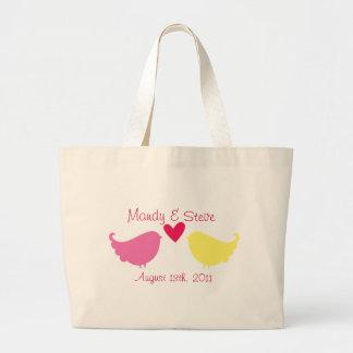 Pássaros do amor do saco de bolsa da lua de mel