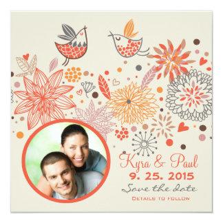 Pássaros do amor - economias da foto o anúncio da convites personalizados