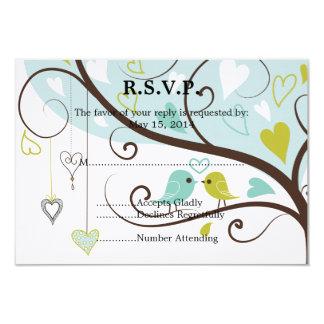 Pássaros do amor que Wedding RSVP Convite 8.89 X 12.7cm
