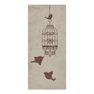 Pássaros do brilho de Brown que Wedding o programa 10.16 X 22.86cm Panfleto