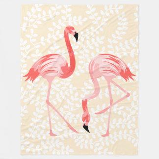 Pássaros do flamingo cobertor de velo