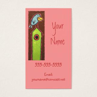 pássaros em cartões de visitas das casas