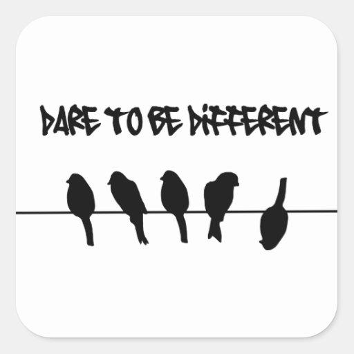 Pássaros em um fio - ouse ser diferente adesivo