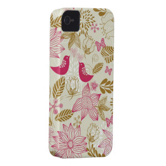 pássaros no caso do iphone 4/4s do amor mal lá capinhas iPhone 4