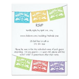 Pássaros personalizados RSVP do amor de Papel Convite 10.79 X 13.97cm