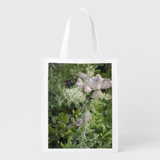 Pássaros & plantas sacolas ecológicas para supermercado