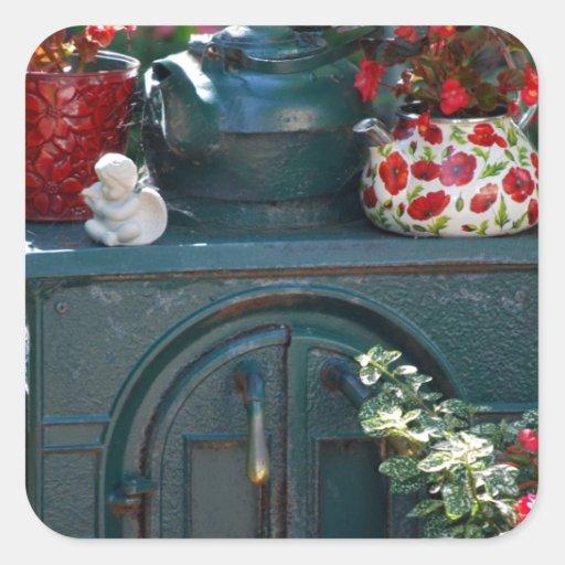 """""""Passe fotografia original do fogão"""" por Lisa Adesivos Quadrados"""